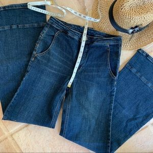 Free people flare high rise jeans